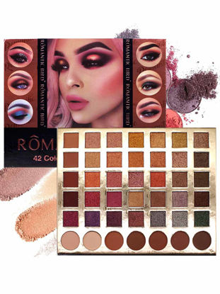 Picture of 42 Colors Eye Shadow Shimmer Pigmented Matte Smoky Makeup Long-lasting Eyeshadow
