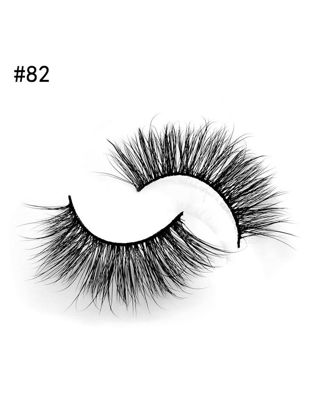 Picture of 2 Pairs Natural Long Mink Eyelashes 1 box 3D Eyelash Extensions Mink 3D Eye Lashes