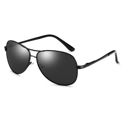 Picture of ZORAVIA Men's Sunglasses Metal Frame Classic Outdoor Anti UV Polarized Light Sunglasses Accessory -Size: One Size
