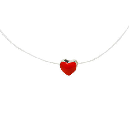 Picture of Women's Fashion Necklace Heart Pendant Elegant Necklace Accessory -Size: Resizable