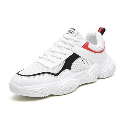 Picture of Men's Sports Fashion Shoes Color Block Thick Sole Comfy Running Shoes -Size: 43