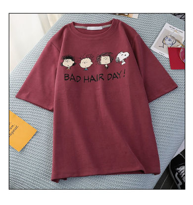 Picture of Women's T-Shirt Printed Loose Comfy Clothing -Size: M