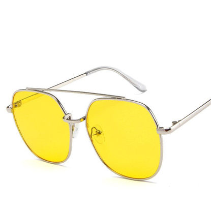 Picture of Men's Sunglasses Oversized Metal Frame Design Trendy Accessory -Size: One Size