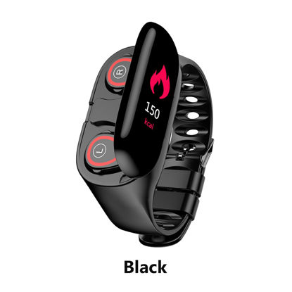 Picture of M1 Smart Bracelet Bluetooth Headphone Multi-Functional 2 In 1 Smart Band -Size: Free size