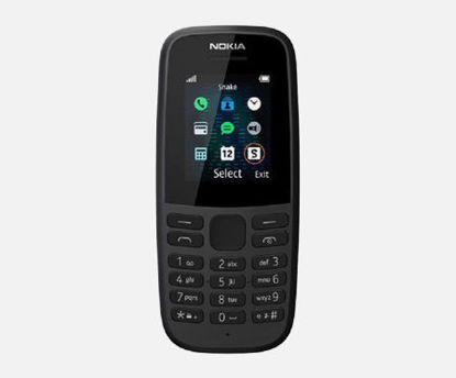صورة Nokia 105 1.77 Inch - Free Feature Phone (Single SIM) – Black