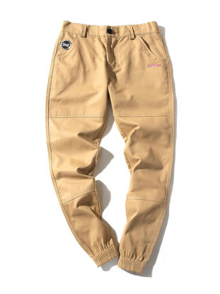 Picture of Men's Cropped  Pants Casual Solid Color Jogging Cozy Pants - Size: XXL