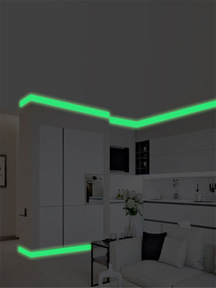 Picture of Wall Sticker Creative Luminous Wall Skirting Line Sticker Glow In The Dark Decal - Size: M