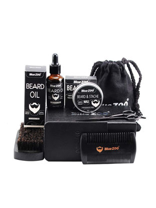 Picture of 7Pcs Men's Beard Care Set Wax Comb Serum Personal Care
