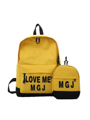 Picture of Unisex Backpack Simple Style Letter Pattern Casual Fashion Bag - Size: One Size