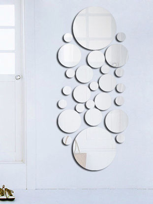 Picture of Wall Stickers Modern Simple Living Room Bedroom Decorative Mirror Face Stickers - Size: One Size