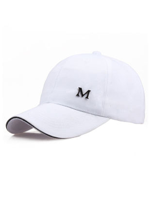 Picture of Men's Hat Fashion Letter Pattern Sunproof Solid Color Peaked Cap - Size: One Size