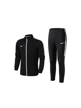 Picture of Nike Men's Sports Suit Stand Collar Breathable Casual Jacket & Pants Set - Size: M