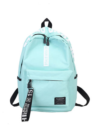 Picture of Women's Backpack Color Block Large Capacity Letter Print Backpack - Size: One Size