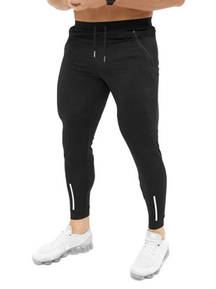Picture of Men's Active Pants Fitness Drawstring Waist Solid Color Pants