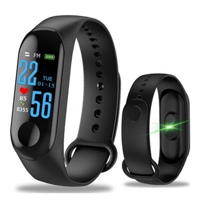 Picture of M3 Plus Smart Bracelet Color Screen Heart Rate Monitor Pedometer Sports Bracelet