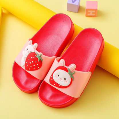 Picture of Kid's Slippers Lovely Cartoon Animal Anti-Slip Fashion Indoor Slippers - Size: 28-29