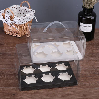 Picture of 2Pcs Baking Packages Simple Transparent Cup Cake Boxes - Size: S