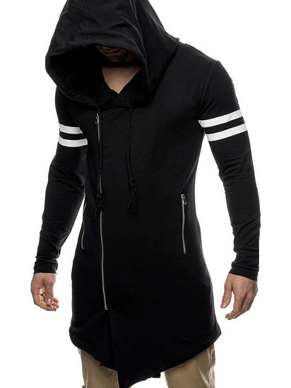 Picture of Men's Hoodie Long pattern Stylish Creative Design Fashionable Casual Hoodie - M