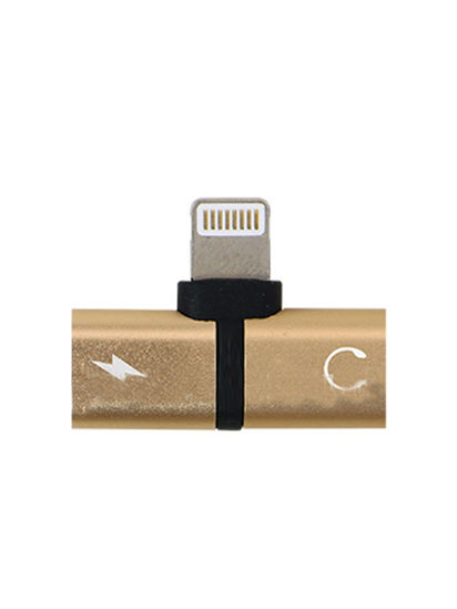 Picture of 2 In 1 Audio Adapter High Quality Convenient Practical Mini Portable Audio Adapter - Type:Iphone