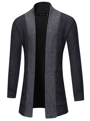 Picture of Men's Cardigan Long Sleeve Fashion Simple Mens Clothing - L