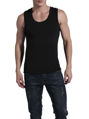Picture of Men's Camisole Solid Color Breathable Cozy Basic Underwear - XL