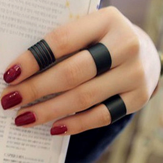 Picture of 3Pcs Women's Ring Set Personality Design Dull Polish Accessories - One Size