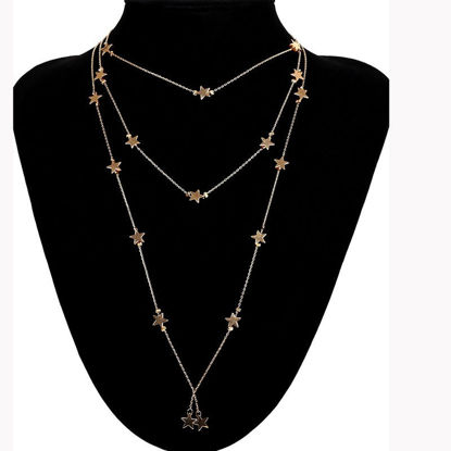 Picture of Women's Multi-Layer Necklace Star Pattern Vogue Necklace Accessory - Resizable