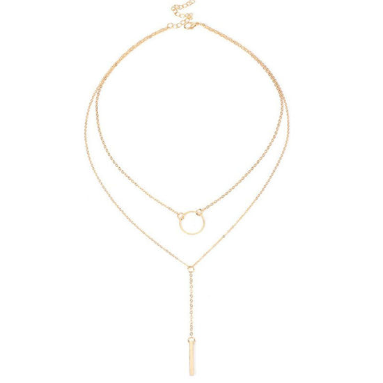 Picture of Women's Multi-Layer Necklace Chic Ladylike Necklace - Resizable