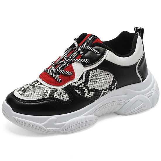 Picture of Women's Sports Shoes Thick Sole Lacing Casual Shoes - 41
