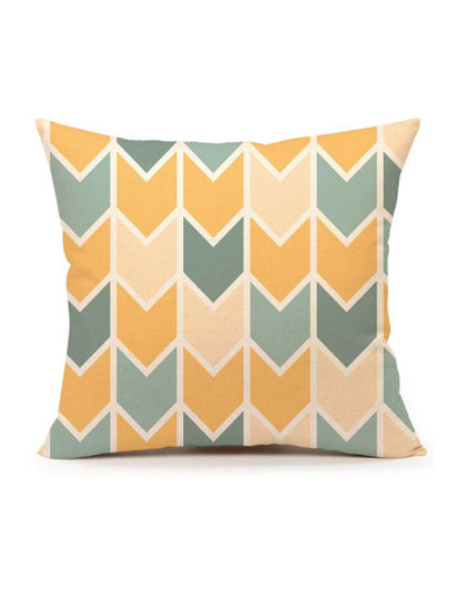 Picture of Modern Design Geometric Pattern Cushion Cover Warm Color Sofa Pillow Cover - Size: 45*45(W*L)cm
