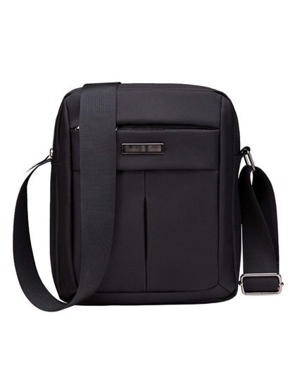 صورة Men's Crossbody Bag Solid Color Plain Style Multi-function Leisure Bag - Size: One Size