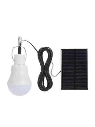 Picture of Solar Powered Energy LED Light Bulb With Solar Panel Hanging Design IP44 Water Resistance Portable Outdoor Light - Size: Type:With Lanyard