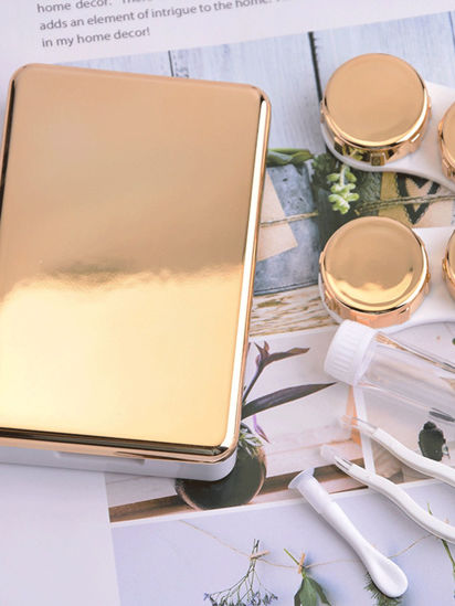 Picture of 2 Pcs Contact Lenses Container Suit Simple Style Contact Lenses Cases - Size: One Size