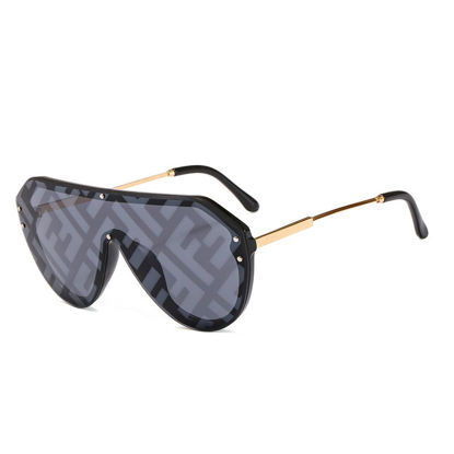 Picture of Men's Sunglasses UV Protection Big Frame Polarizing Eyewear - Size: One Size