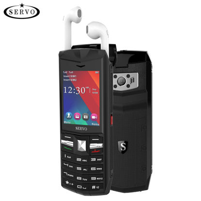 صورة SERVO R26 32MB RAM 32MB ROM 2.4 Inch Bluetooth Headphone Mobile Phone - Size: Type:UK