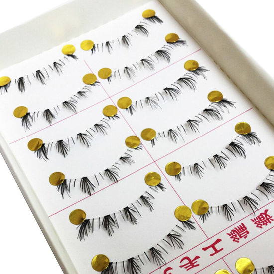 Picture of Natural Artificial Eyelashes Soft Lower Under Bottom Imitated Eyelashes