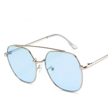 Picture of Men's Sunglasses Oversized Metal Frame Design Trendy Accessory - Size: One Size
