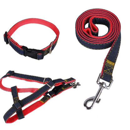 Picture of Pet Harness Collar and Leash Set Durable Thickening Pet Supplies Kit