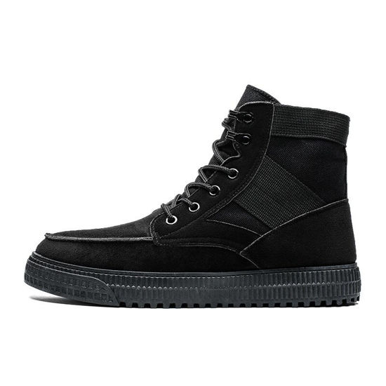 Picture of Men's Martin Boots Fashion Round Toe Casual Lacing Shoes - Size: 41