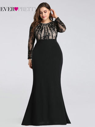 Picture of Ever-Pretty Women's Full Dress Plus Size Lace Patchwork Maxi Long Dress - Size: 22