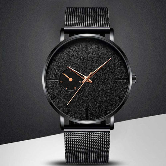 Picture of Men's Quartz Watch Fashion Casual Simple Mesh Strap Watch - Size: One Size