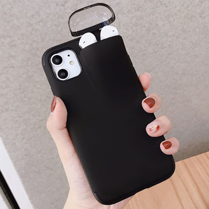 Picture of iPhone 7 Plus Phone Cover Candy Color Multi-Functional Earphones Case - Size: IPHONE 7Plus