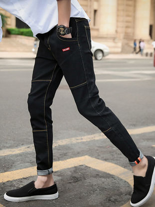 Picture of Men's Jeans Extended Cozy Style Casual Denim Pants - 33
