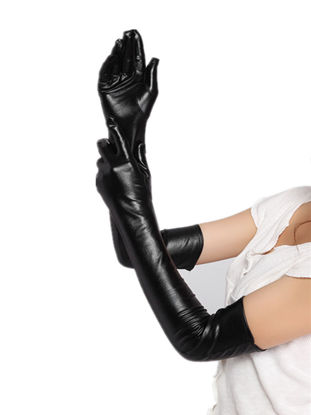 Picture of Women's Gloves Sexy Lingerie Solid Color Full Finger Sexy Gloves Accessory - Free