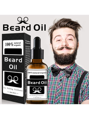 Picture of Beard Oil Botanical Extract Thick Hair Whiskers Growth Essential Oil 30ml