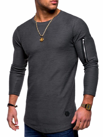 Picture of Men's T-Shirt Personality Street Fashion Breathable Plus Size Classic Tee - XL