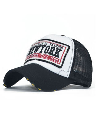 Picture of Men's Hat Sun-proof Embroidery Letter Pattern Stylish All Match Baseball Cap - One Size