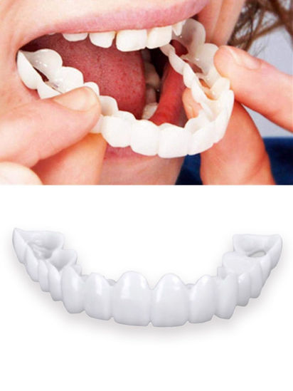 صورة Teeth Socket for Men and Women Snap On Smile Teeth One Size Fits Snapon Snap-on Smile Safety Non-toxic Dental Crown
