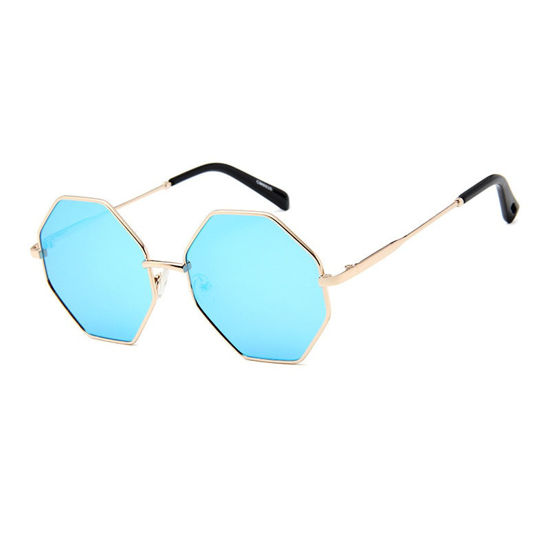 Picture of Men's Sunglasses Fashion UV Protection Polygonal Frame Eyewear - One Size