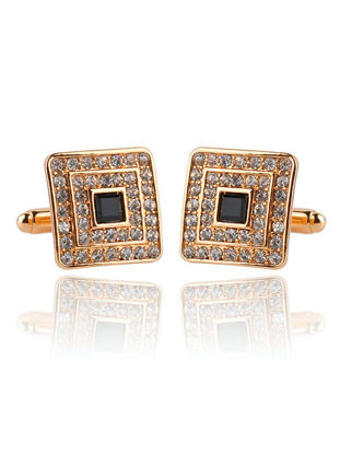 Picture of Men's Cufflinks Rhinestone Classic All Match Alloy Cuff Buttons Accessory - One Size